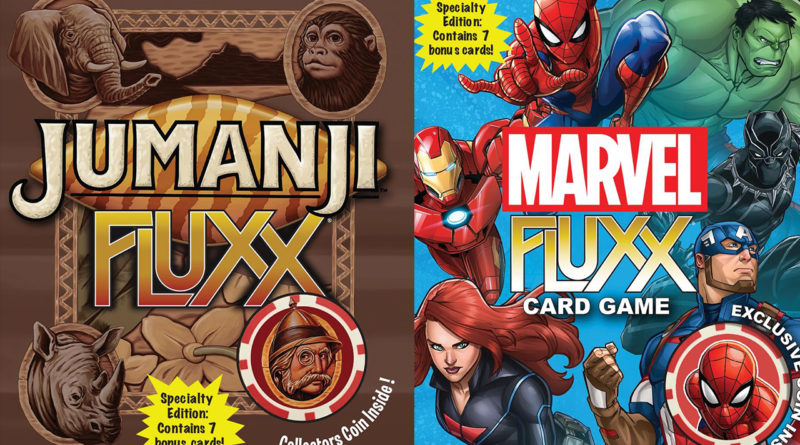 Looney Labs Announces Release Details for Jumanji Fluxx & Marvel Fluxx